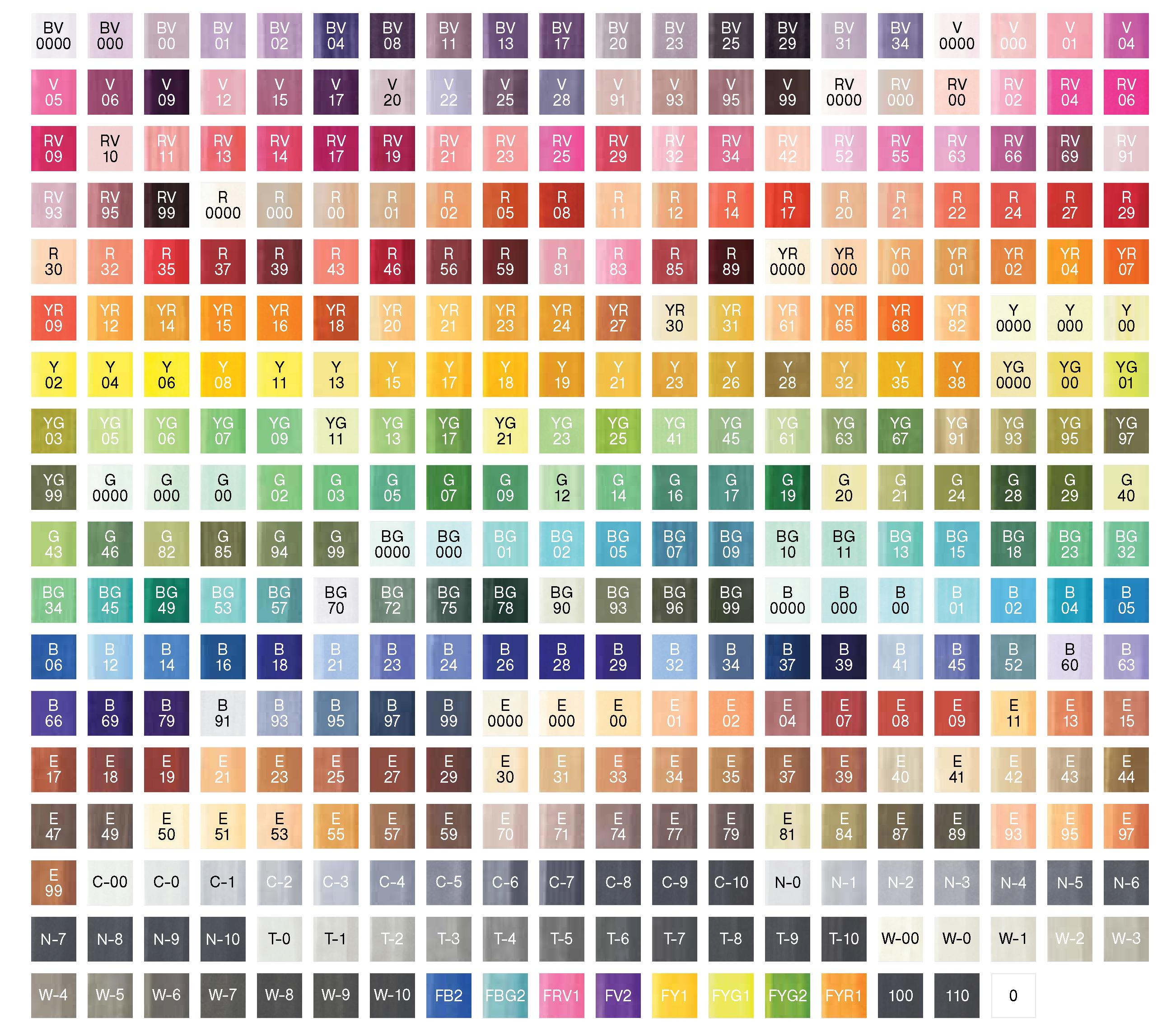 Copic Sketch Marker Display FULL Rack - 358 Colors (1080 Markers)