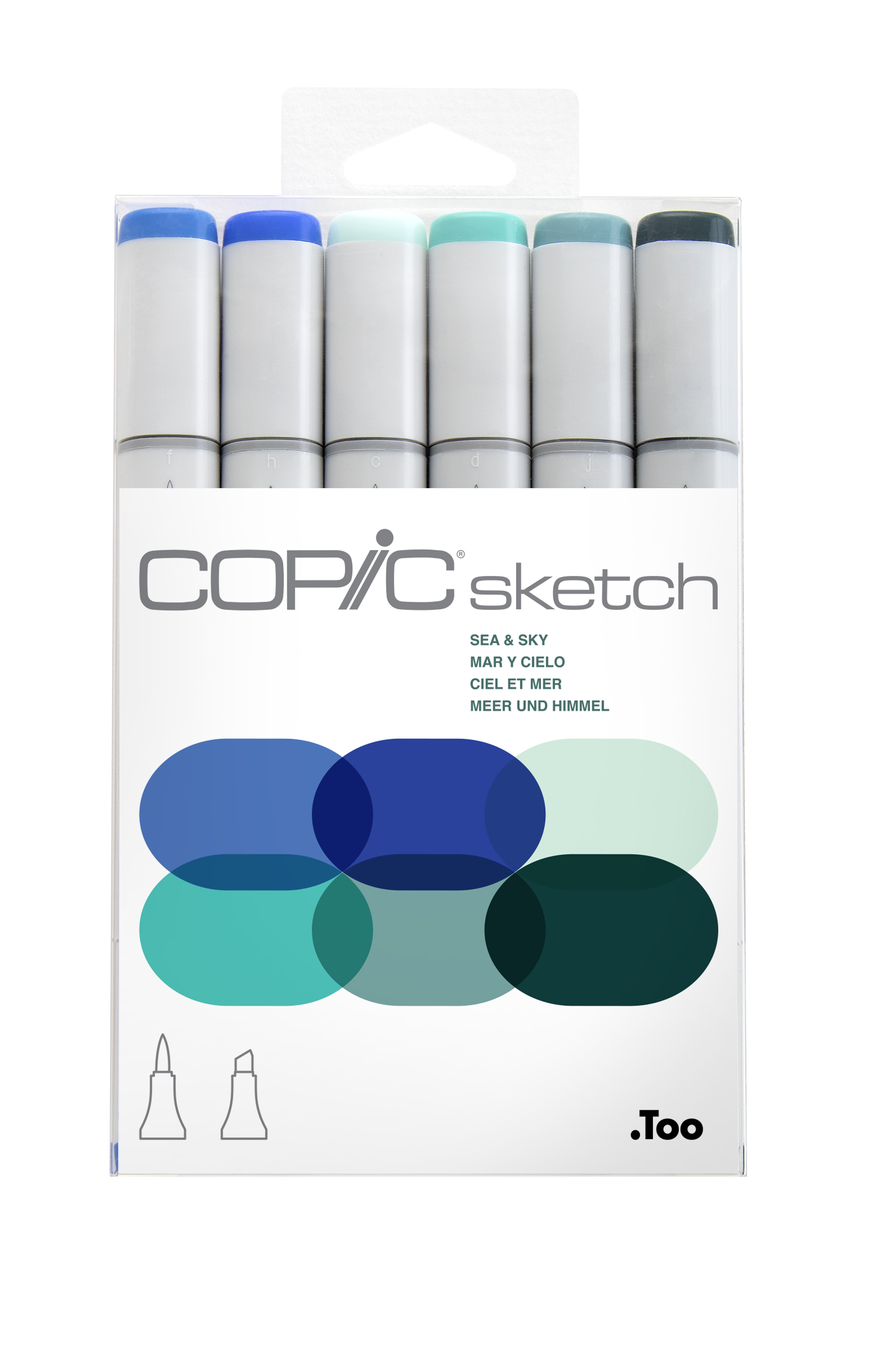 Copic Sketch Marker Sea & Sky 6Pc Set