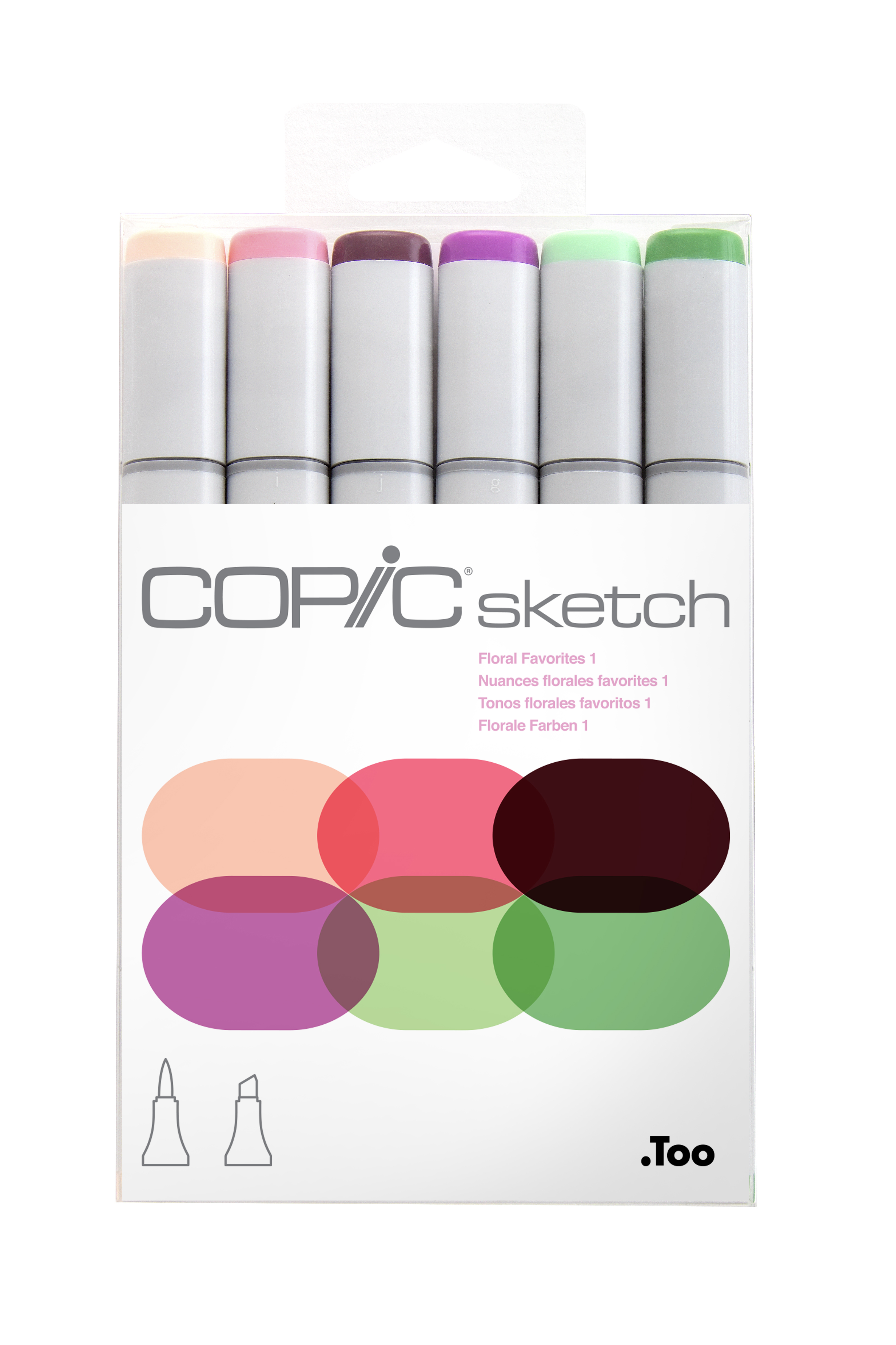 Copic Sketch Marker Floral Favorites I 6Pc Set