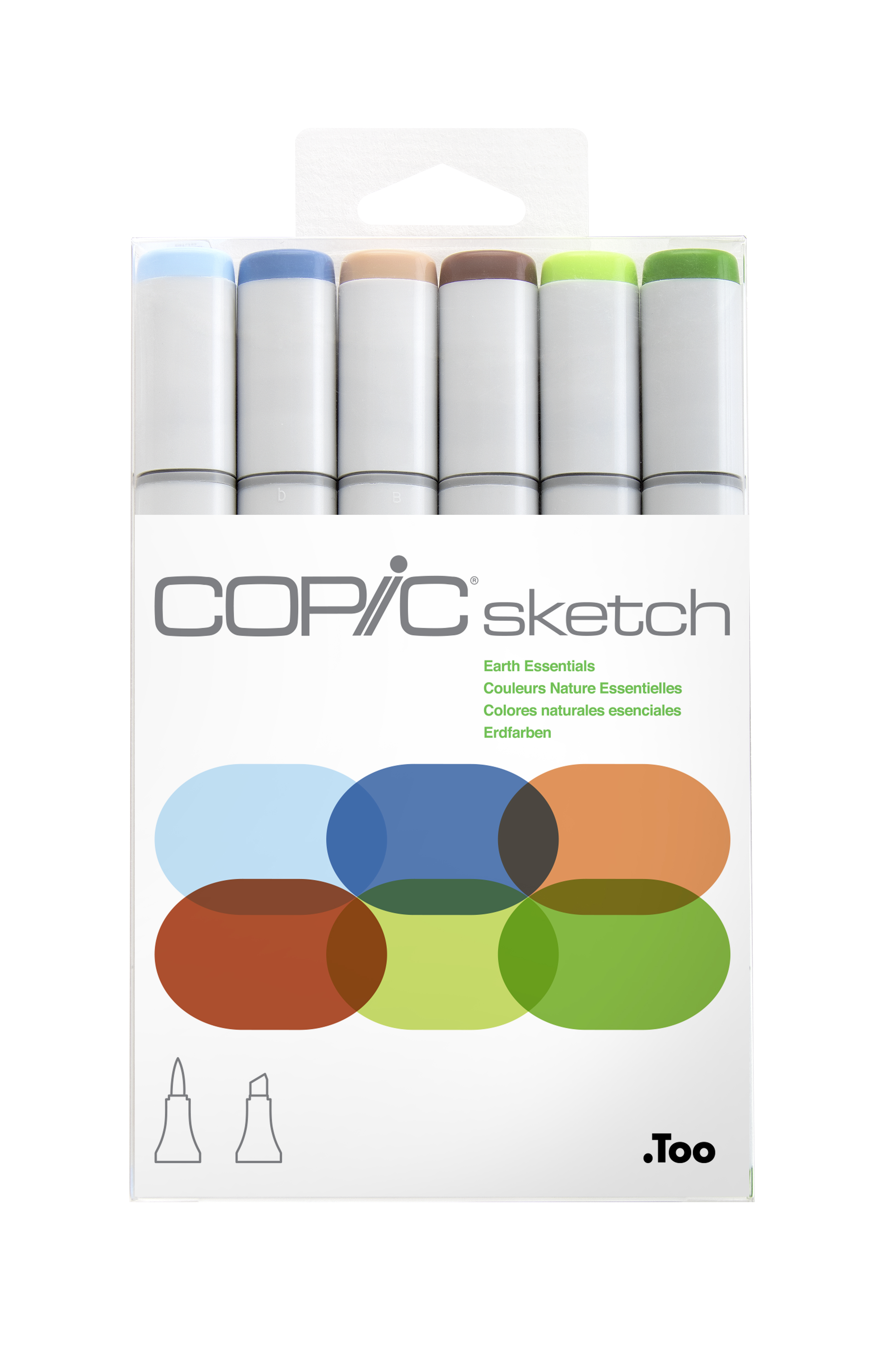 Copic Sketch Marker Earth Essentials 6Pc Set