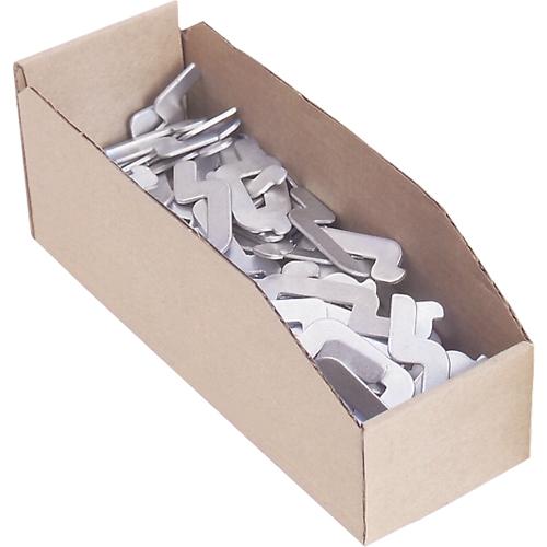 "Cardinal Boxes 12"" Deep Corrugated Parts Bins, 4"" W x 12"" D x 4-1/2"" H, Beige"