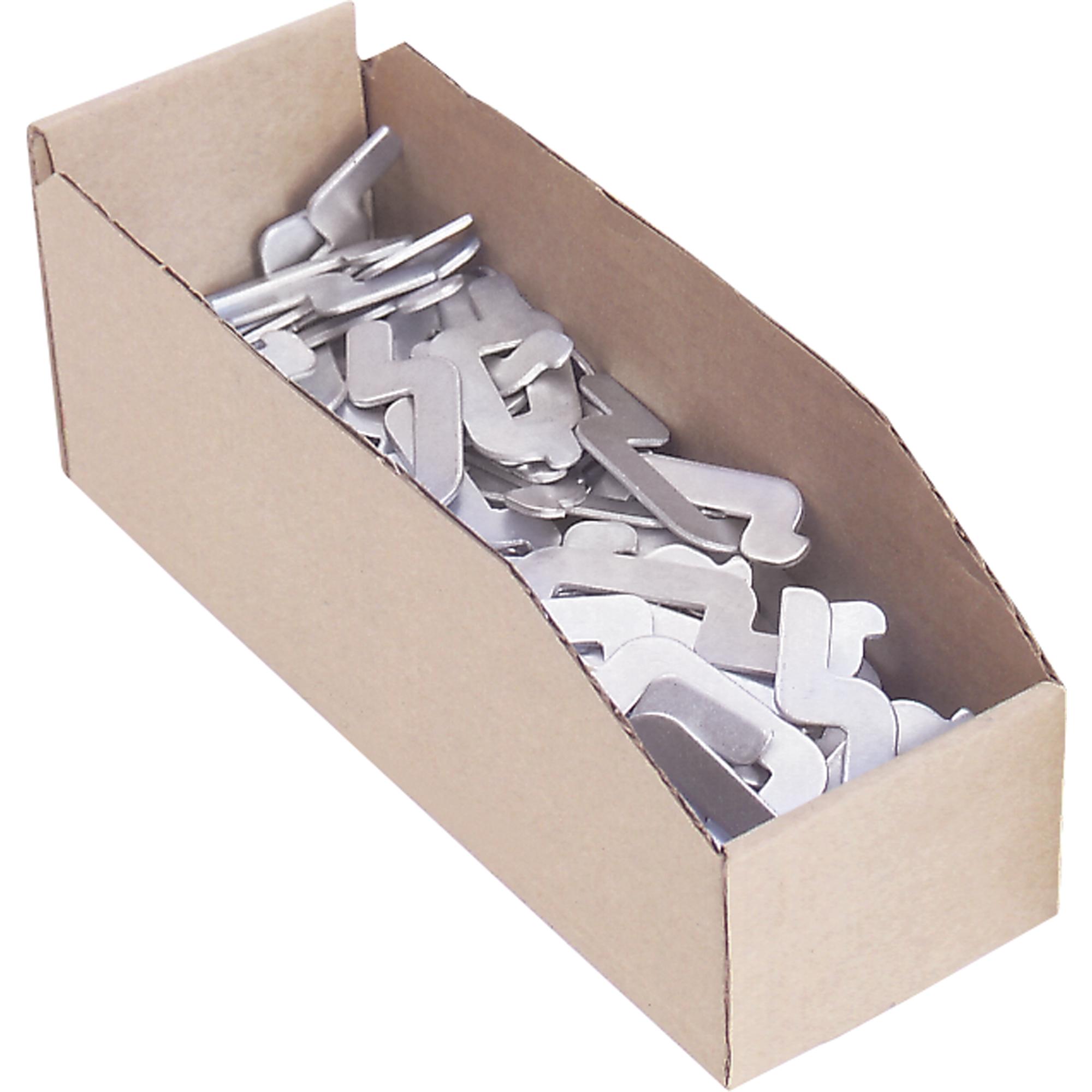 "Cardinal Boxes 12"" Deep Corrugated Parts Bins, 8"" W x 12"" D x 4-1/2"" H, Beige"