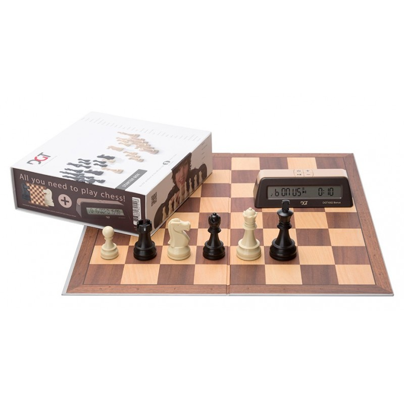 DGT Chess Starter Box Brown (Board & Pieces & Clock)