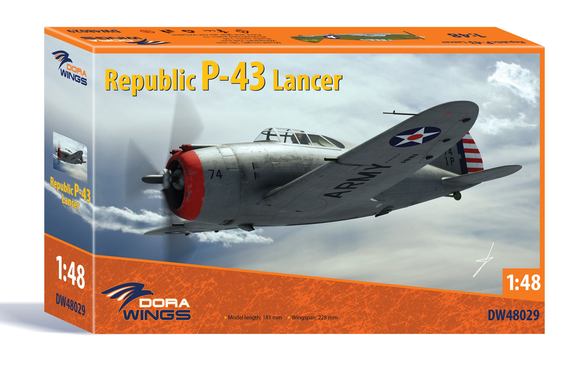 Dora Wings 1/48 Republic P-43 Lancer/PinaGraK n-43 JIancep