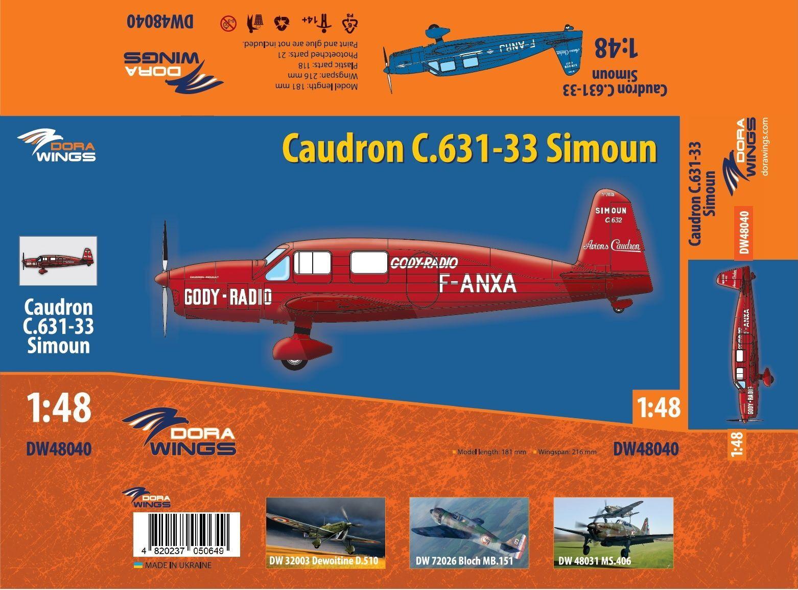 Dora Wings 1/48 Caudron C.631/633 Simoun