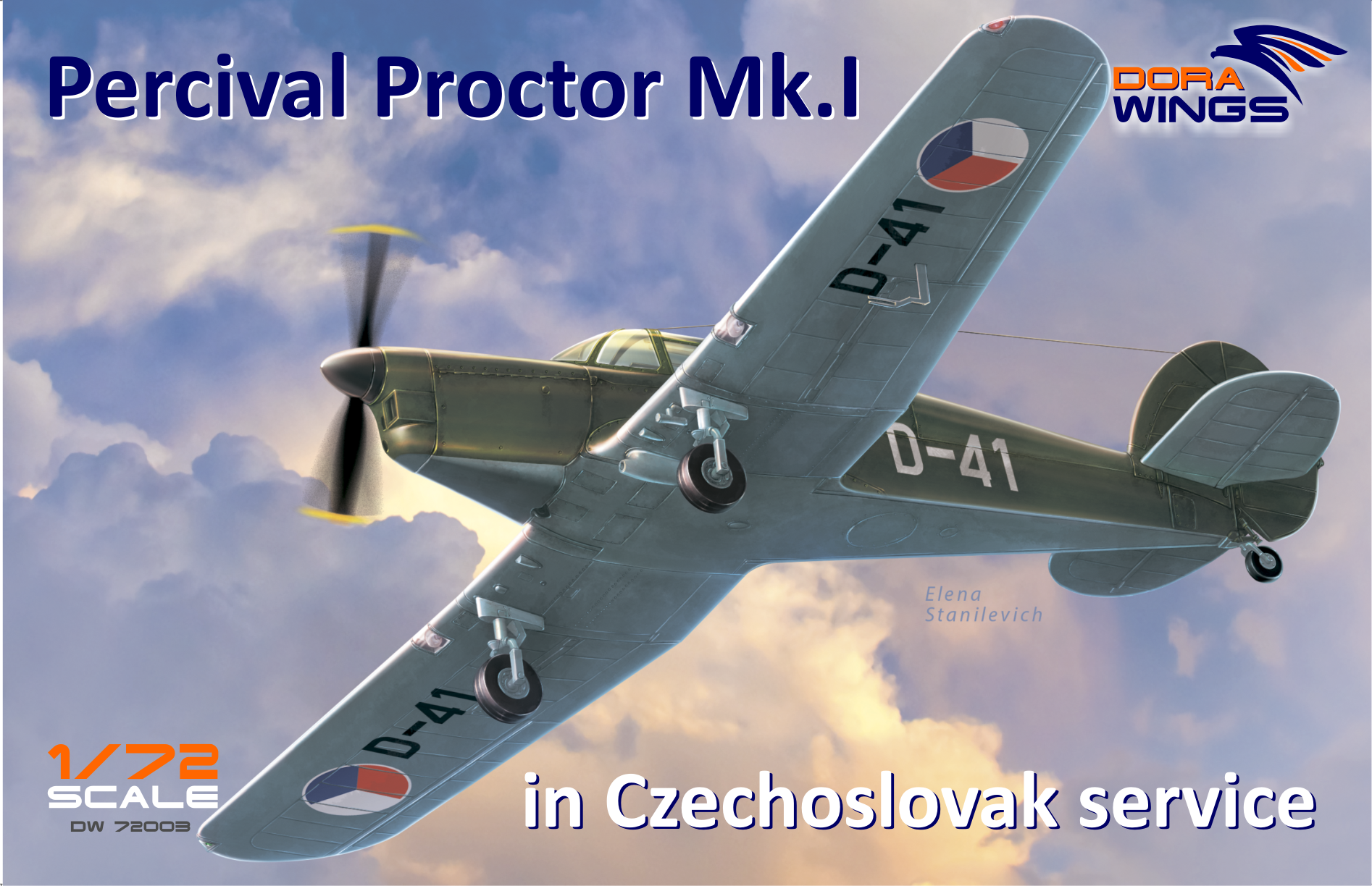 Dora Wings Percival Proctor Mk.1 marking of Czechoslovakia