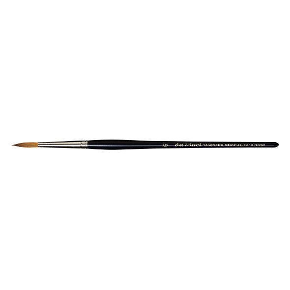 Da Vinci Watercolor Series 10 Maestro Kolinsky Sable Brush - Round, Short Handle, Size 0