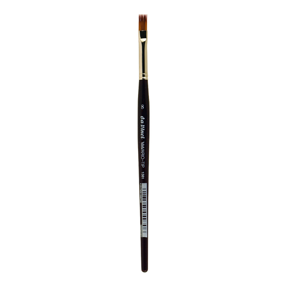 da Vinci VARIO Series 1381,TIP flat, mixture of NOVA and TOP-ACRYL fibres in different lengths, Size:8