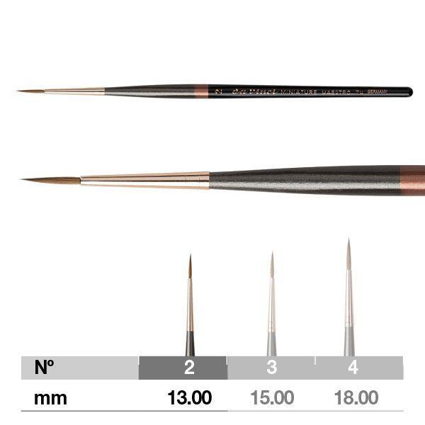 Da Vinci Miniature Maestro Series 70 Brush - Extra Pointed, Long Handle, Size 2