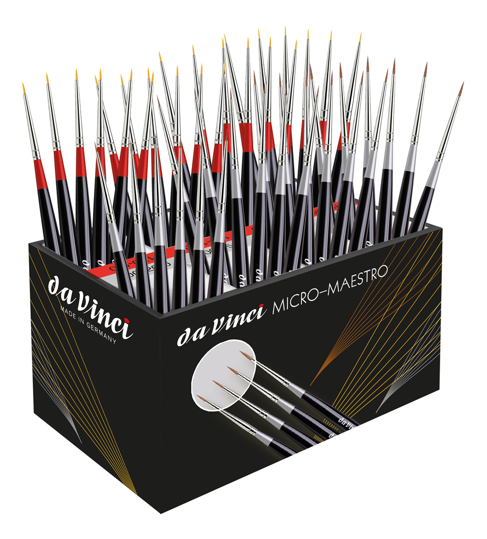 da Vinci Micro Maestro Display Bundle, 30 Brushes