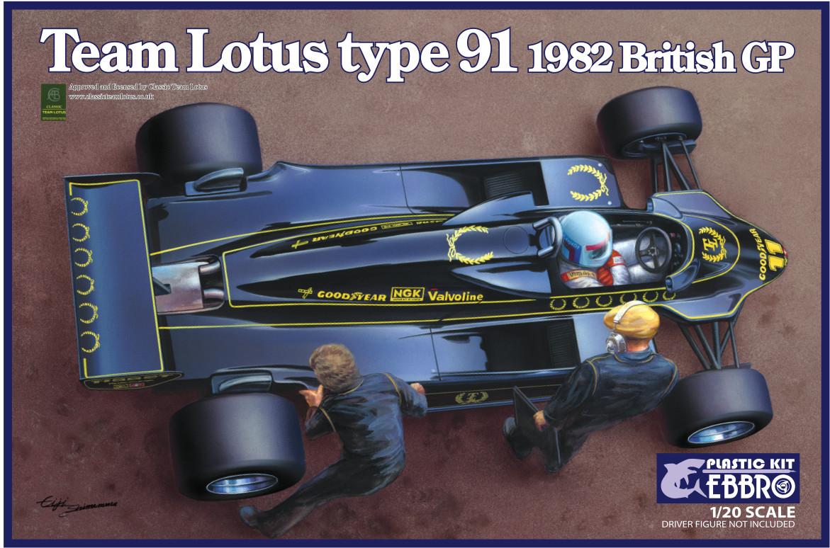 Ebbro Team Lotus Type 91 1982