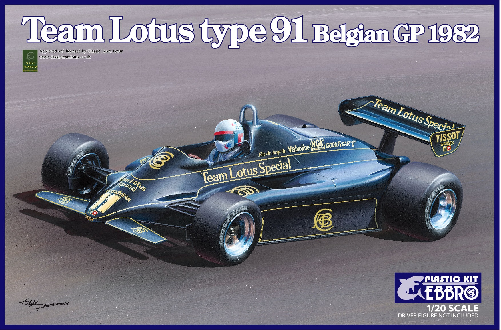 Ebbro Team Lotus Type 91 Belgian GP 1982