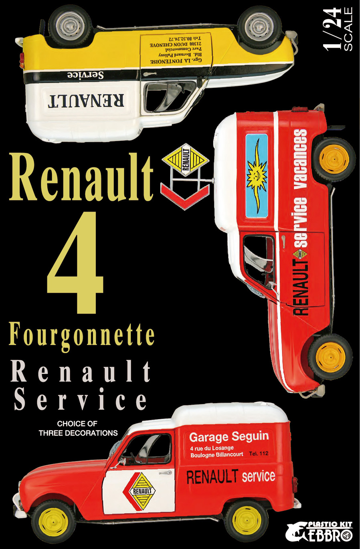 Ebbro 1/24 Renault 4 Fourgonnette Service Car
