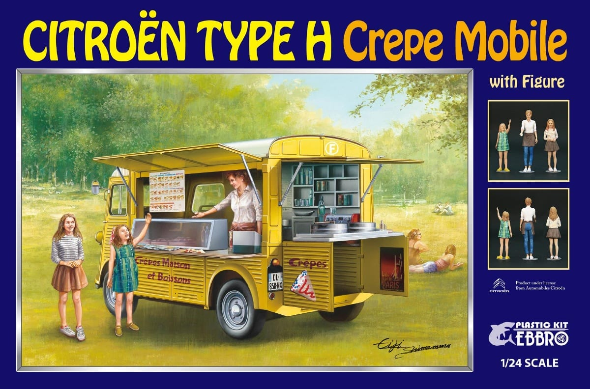 Ebbro Citroen H van Crepe mobile with figure