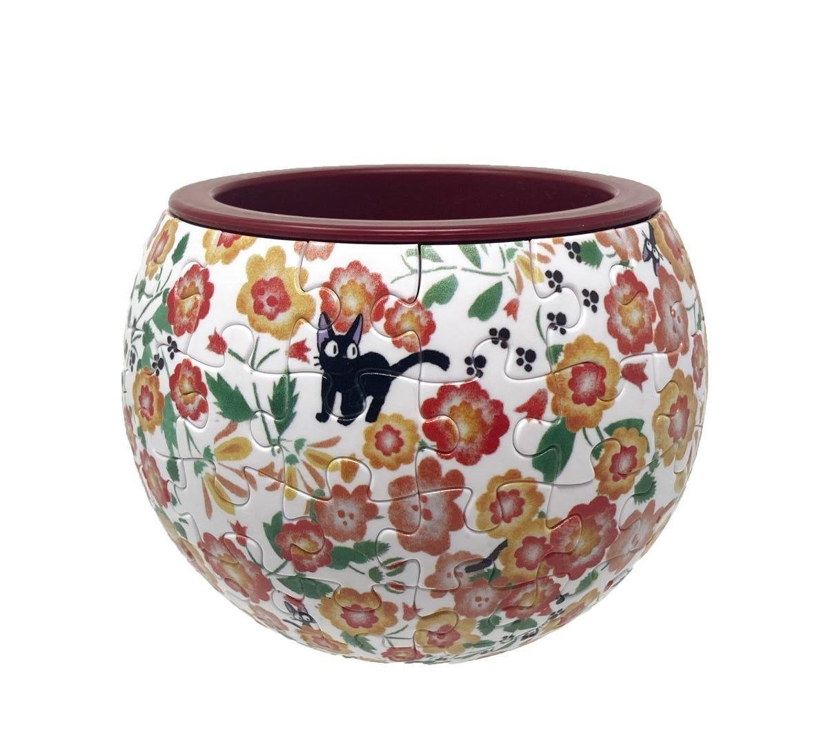 "Ensky AT8-04 Jiji Flower Garden Puzzle Bowl ""Kiki's Delivery Service"", Ensky Art Bowl Jigsaw"