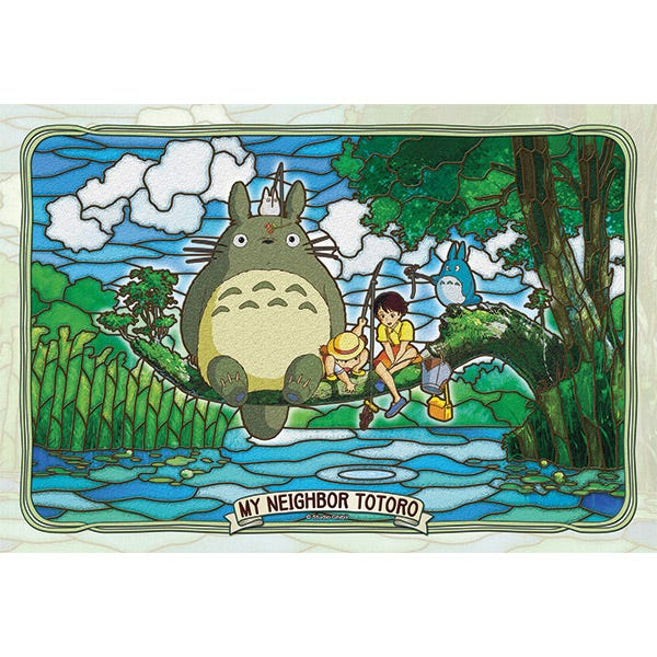 "Ensky 300-AC034 Totoro and Friends Fishing (Large) ""My Neighbor Totoro"", Ensky Artcrystal Puzzle"