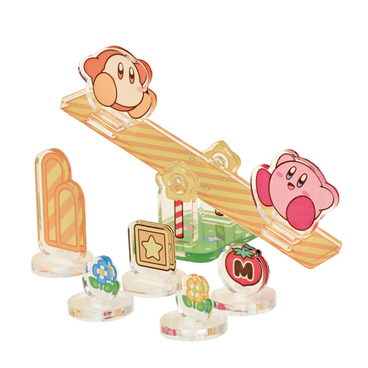 Ensky Diorama Sea-Saw (Kirby and Waddle Dee) Kirby Moving Acrylic Diorama Stand