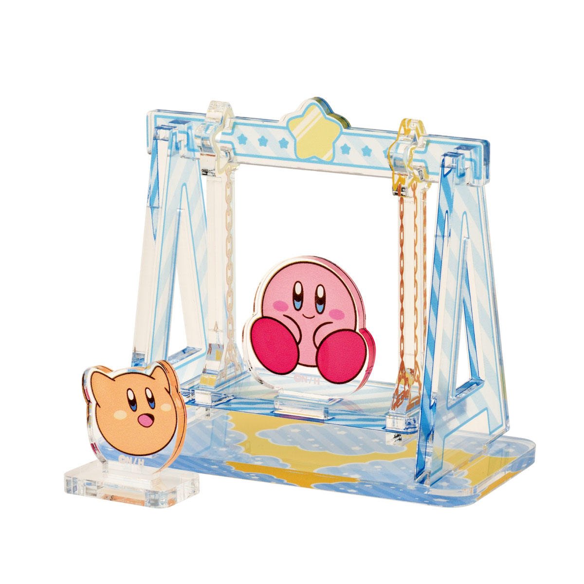 Ensky Diorama Swing (Kirby and Scarfy) Kirby Moving Acrylic Diorama Stand