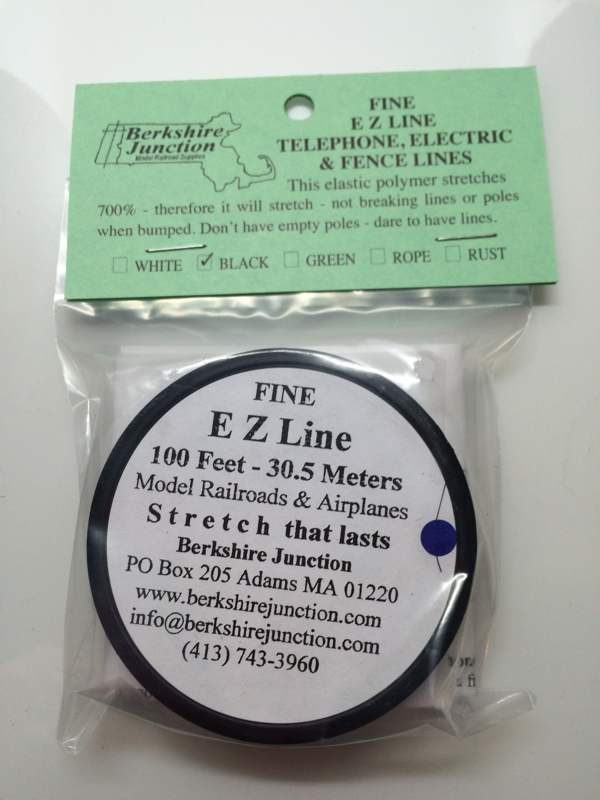 EZ Line Fine Black Model Railroads/Airplanes, 100 Feet