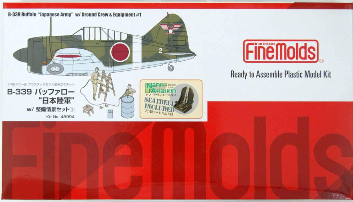 """FineMolds 1/48 B-339 Buffalo """"Japanese Army"""" with Ground Crew & Equipment #1"""