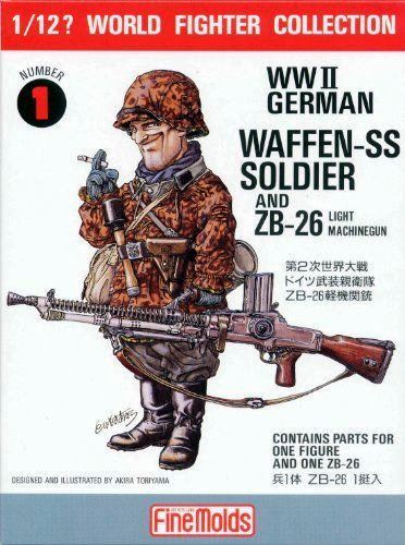 FineMolds 1:12 W.W.II German Soldier & ZB26 Figure Kit