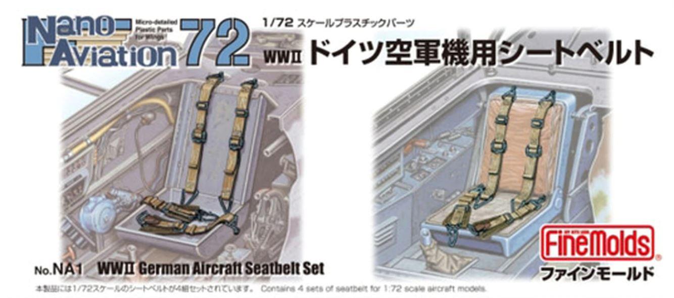 FineMolds 1/72 WWII German Aircraft Seatbelt Set