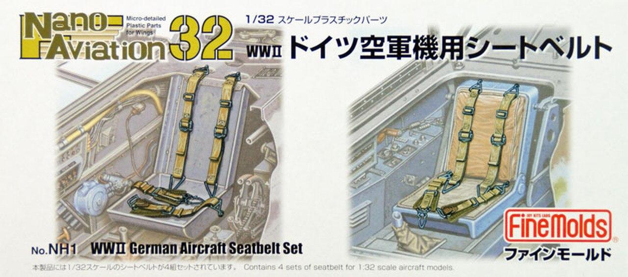 FineMolds 1/32 WWII Luftwaffe German Aircraft Seatbelt Set