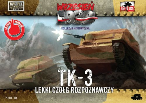First to Fight Polish TK-3 light reconnaissance tank (simplified kit)