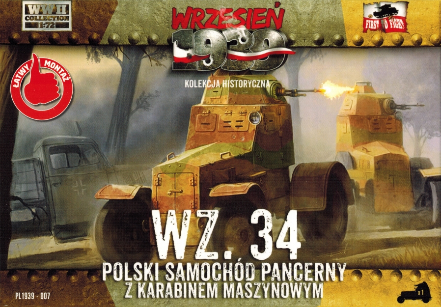 First to Fight Wz.34 Polish Armored Car (simplified kit)