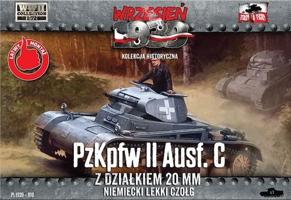First to Fight Pz.Kpfw.II Ausf.C German light tank,This will be the early production version of Pz.Kpfw.II C - without the additional armor plates in front, with rounded frontal armor.