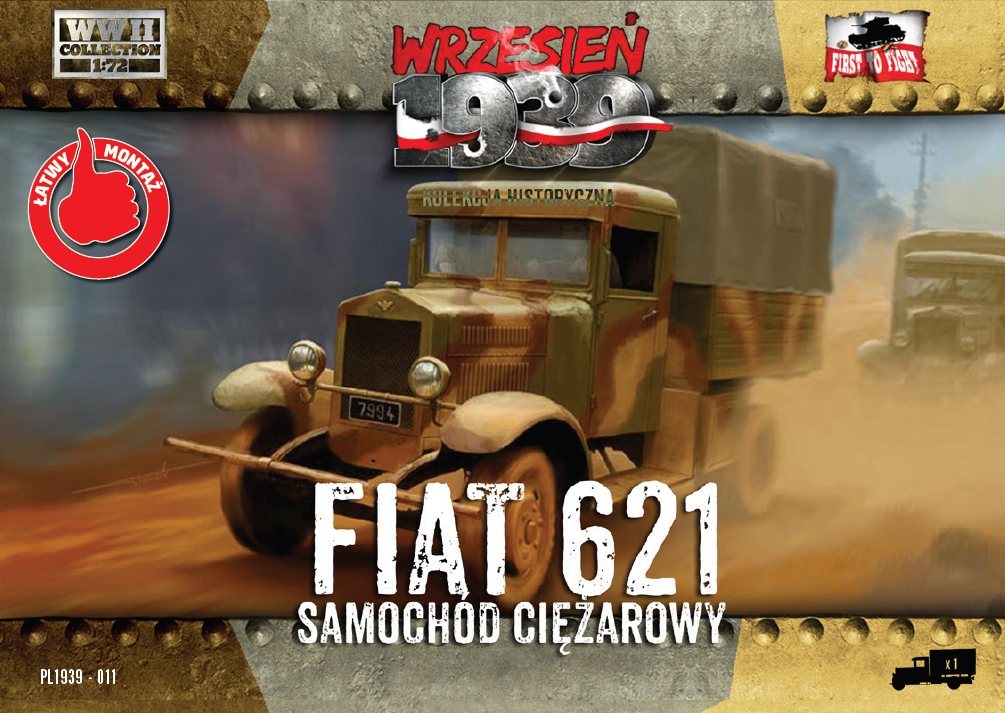 First to Fight Polish Fiat 621L truck