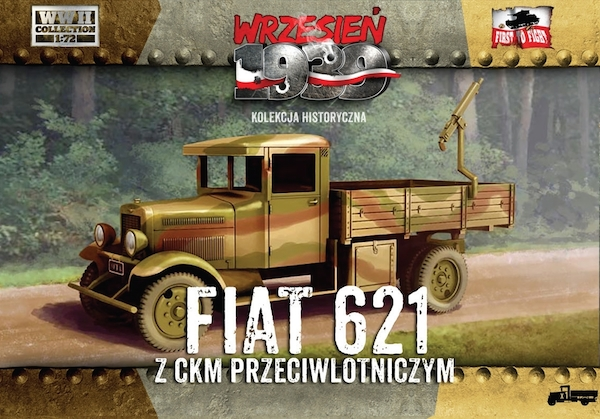 First to Fight Polish Fiat 621 with AA machine gun