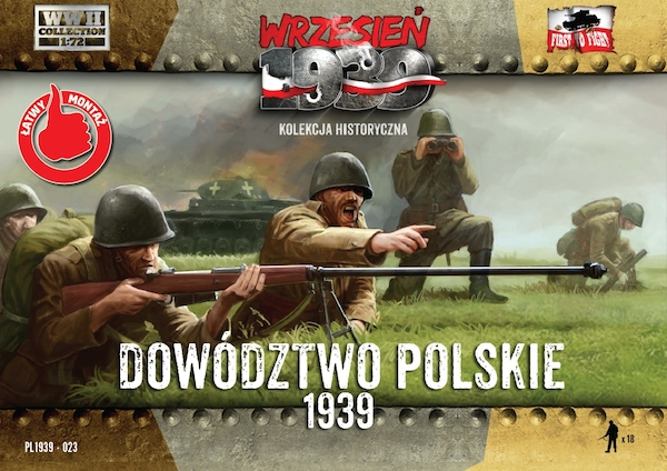 First to Fight Polish Headquarters - Polish infantry officers figure set (WWII)