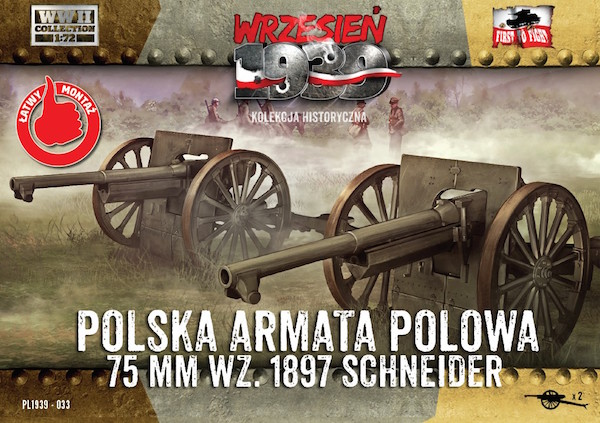 First to Fight Polish Field Cannon 75mm Schneider (2 in a box)