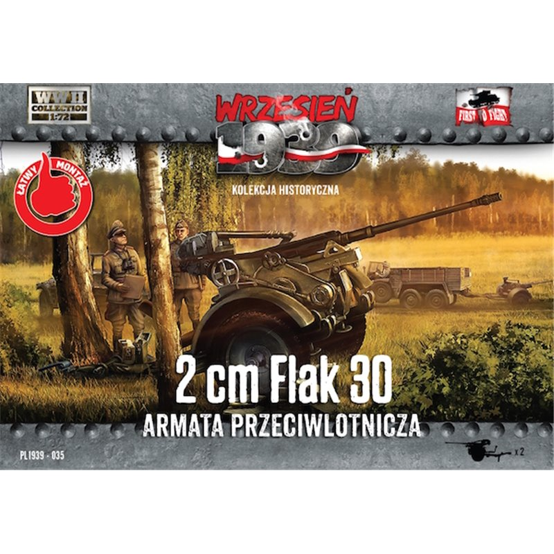 First to Fight Flak-30 Anti-Aircraft Guns x 2�- 1/72 Plastic model kit