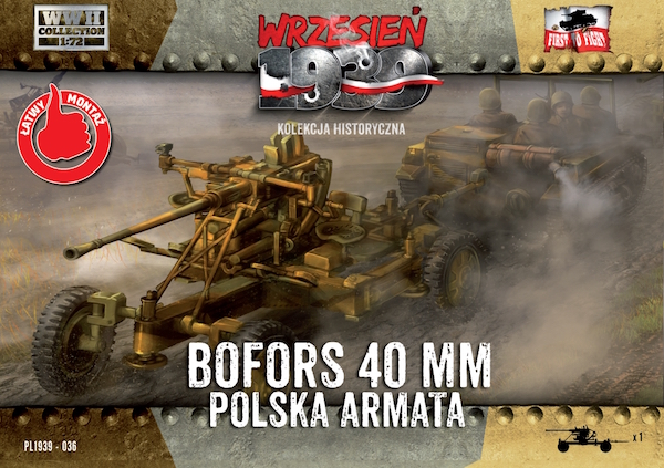 First to Fight Polish Bofors 40mm Anti-Aircraft Gun