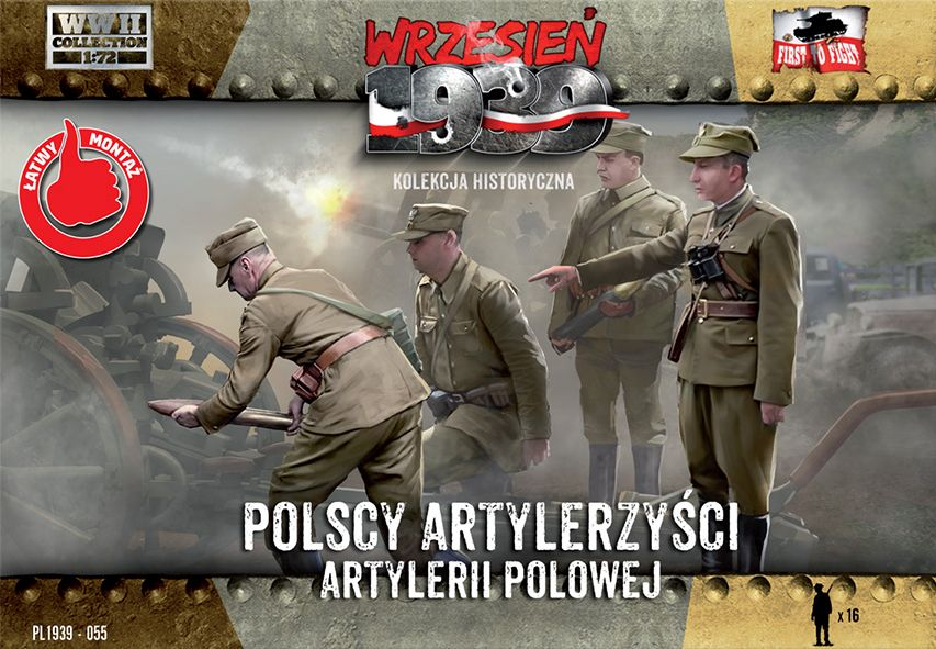 First to Fight Polish Artillerymen figures
