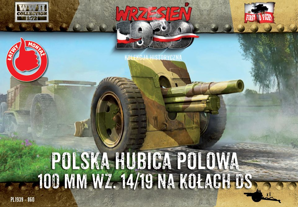 First to Fight Skoda 100mm Howitzer on DS wheels