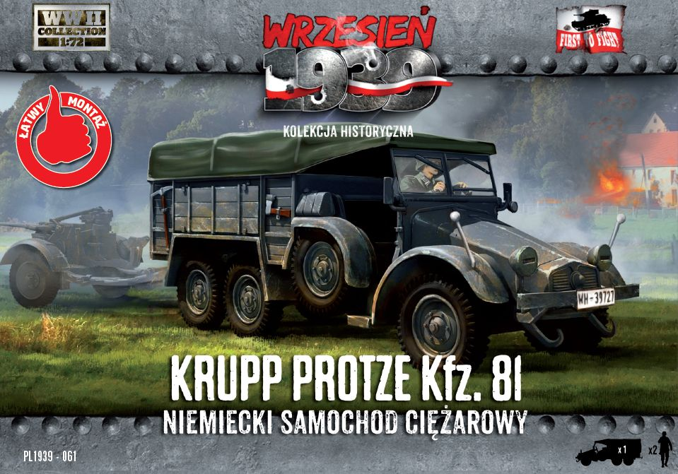 First to Fight Krupp-Protze 81 German Truck