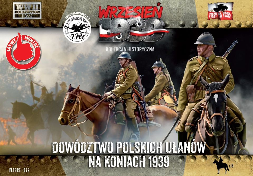 First to Fight Polish Uhlans command on horseback