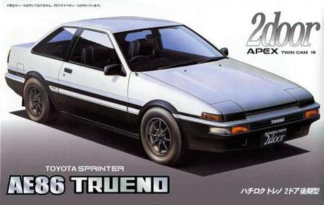 "Fujimi Toyota AE86 Trueno 2 door ""Late type"" '85"