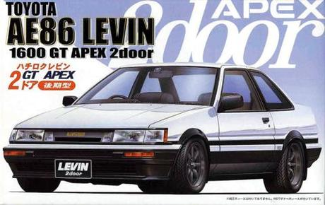 "Fujimi 1/24 Toyota AE86 Levin 2 Door ""Late type"" '85"