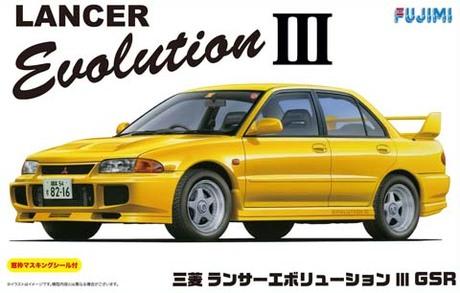 Fujimi Mitsubishi Lancer Evolution III GSR w/ Window Frame Masking