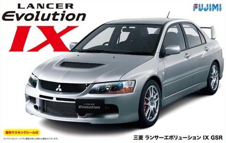 Fujimi Mitsubishi Lancer Evolution IX GSR w/ Window Frame Masking
