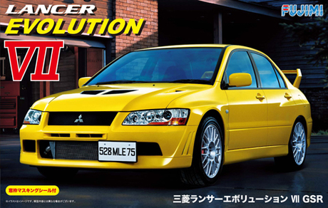 Fujimi 1/24 Mitsubishi Lancer Evolution VII GSR with Window Frame Masking