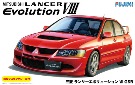 Fujimi 1/24 Mitsubishi Lancer Evolution VIII GSR with Window Frame Masking
