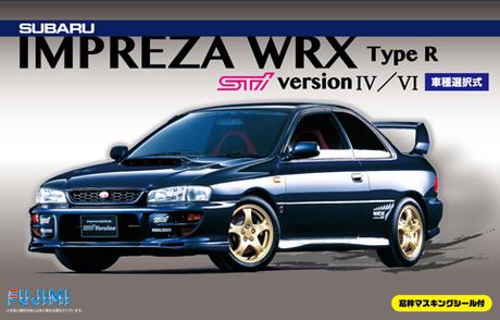 Fujimi Subaru Impreza Sti ver IV/VI w/ Window Frame Masking Seal