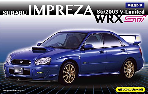 Fujimi Subaru Impreza WRX Sti/2003 V-Limited w/Window Frame Masking Seal