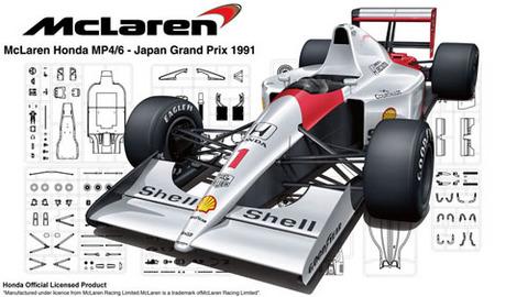 Fujimi 1/20 McLaren Honda MP4/6 (Japan GP/San Marino GP/Brazil GP)
