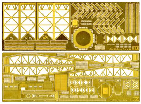 Fujimi 1/700 MS70012 Harbor Large Crane Set Etching Parts